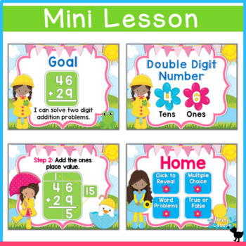Double Digit Addition with Regrouping Smartboard and Powerpoint
