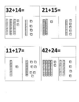 Double Digit Addition with base ten blocks