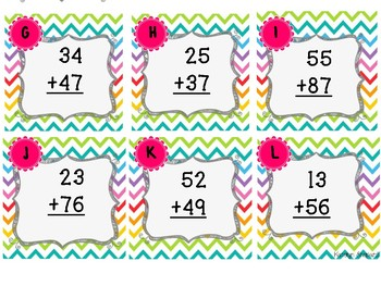 Double Digit Addition {with regrouping} Scoot