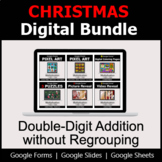 Double-Digit Addition without Regrouping - Digital Christmas Math Bundle