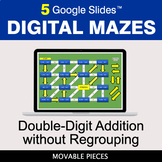 Double-Digit Addition without Regrouping | Digital Mazes D