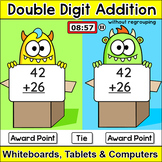 Double Digit Addition without Regrouping Team Challenge Digital Game