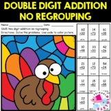 Double Digit Addition without Regrouping Thanksgiving Colo