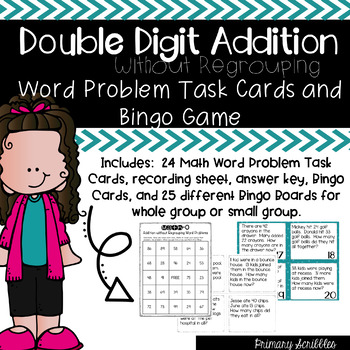 Double Digit Addition without Regrouping Word Problems Tas