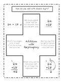 Double Digit Addition writing and domino activity