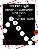 Two-Digit Addition/Subtraction Card Sort Activities-Number Discs like Singapore