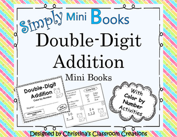 Double Digit Addition Color by Number: Simply Mini Books