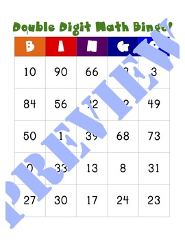 Double Digit Bingo {Addition and Subtraction}