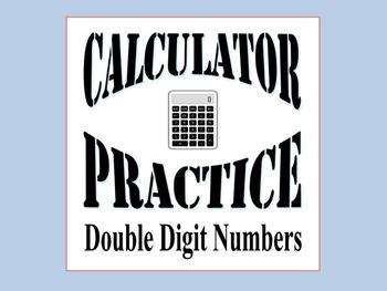 Double Digit Calculator Practice Worksheets