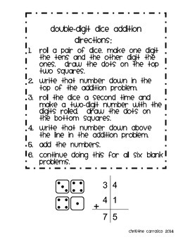 Double-Digit Dice Addition