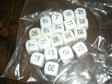 Double Digit Dice set