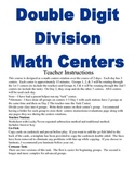 Double Digit Division Math Centers and Activities