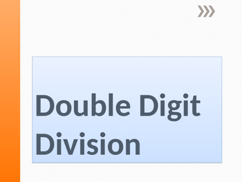 Double Digit Division Powerpoint