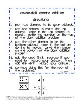 Double-Digit Domino Addition