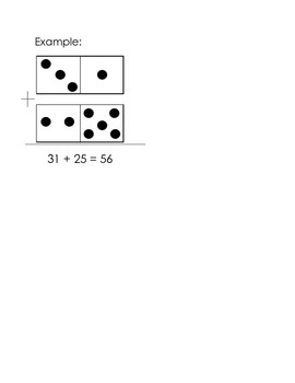 Double Digit Domino Addition Worksheet