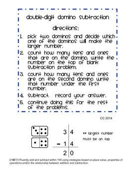 Double-Digit Domino Subtraction