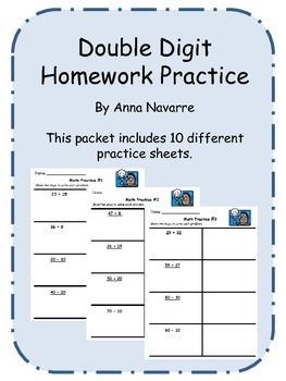 Double Digit Homework Practice