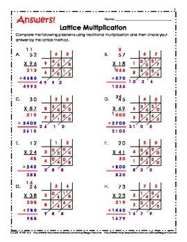 Double Digit Lattice Multiplication