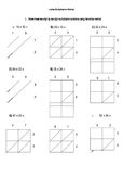 Double Digit Lattice Multiplication Sheet
