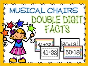 Double Digit Addition Musical Chairs GAME