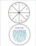 Double Digit Math Spinner Game
