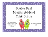 Double Digit  Missing Addend Task Cards