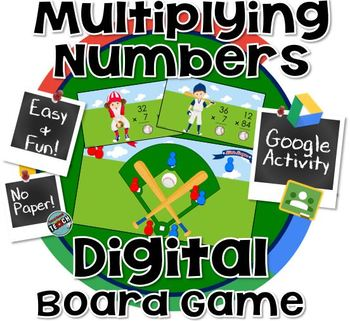 Double Digit Multiplication Board Game - #halftimedollardeals  GOOGLE CLASSROOM