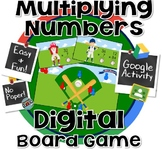 Double Digit Multiplication Board Game - 100% Digital ~ GO