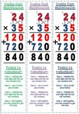 Double Digit Multiplication Bookmark