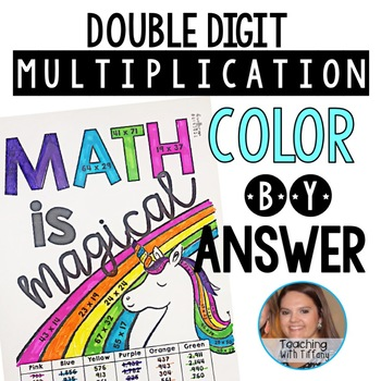 Double Digit Multiplication Color By Answer