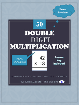 Double Digit Multiplication - Common Core Standards Pack CCSS 4.NBT.5