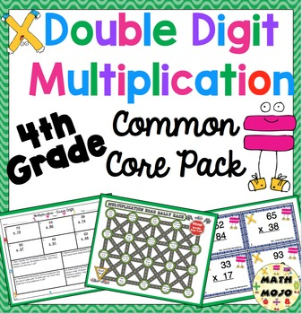 Double Digit Multiplication Common Core Standards Pack CCSS 4.NBT.5