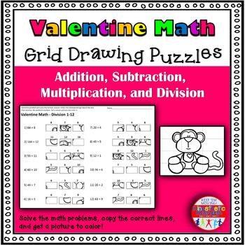Valentine Math: Grid Drawing Fun!