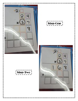 Double Digit Multiplication Mat