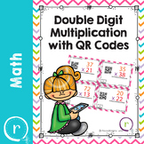 Double Digit Multiplication Math Task Cards QR Self Check