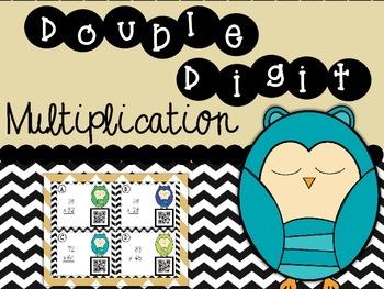Double Digit Multiplication Owls FREEBIE