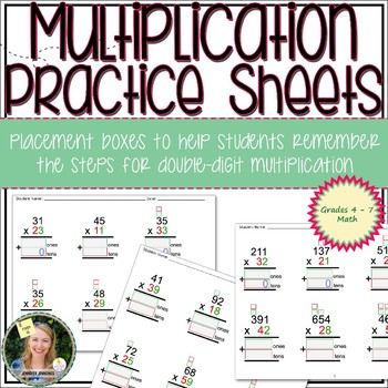 Double-Digit Multiplication Practice Sheets