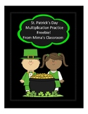 Double-Digit Multiplication Practice for St. Patrick's Day