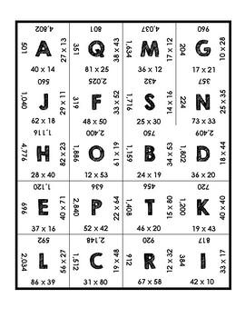 Double Digit Multiplication Puzzle