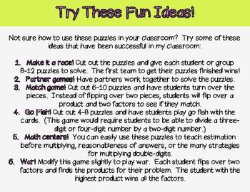 Double-Digit Multiplication Puzzles