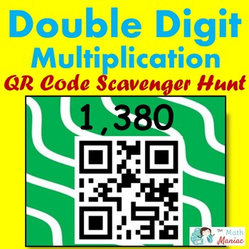 Double Digit Multiplication QR Code Scavenger Hunt