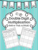 Double Digit Multiplication Roll or Pick a Stick (Area Model/Standard Algorithm)