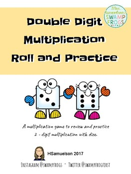 Double Digit Multiplication Roll and Practice