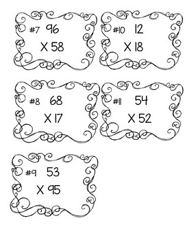 Double-Digit Multiplication Scoot