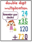 Double Digit Multiplication Sign
