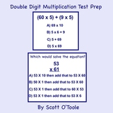 Double Digit Multiplication Smartboard Test Prep-Distributive Property