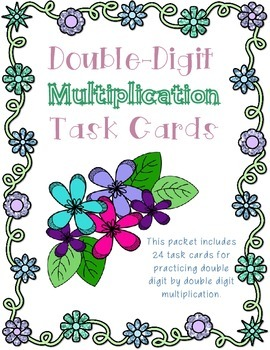 Double Digit Multiplication Task Cards