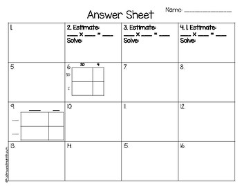 Double Digit Multiplication Task Cards (4th Grade GoMath Ch. 3 Test Review)