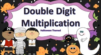 Double Digit Multiplication Task Cards {Halloween Themed}