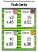 Multiplication Task Cards for Double Digit Multiplication Owl Themed